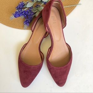 J. Jill red suede d'orsay flat shoes 7.5